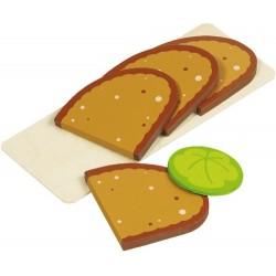 Brotscheiben u. Salatblatt