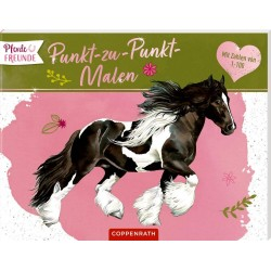 Pferdefreunde: Punkt zu Punkt Malen
