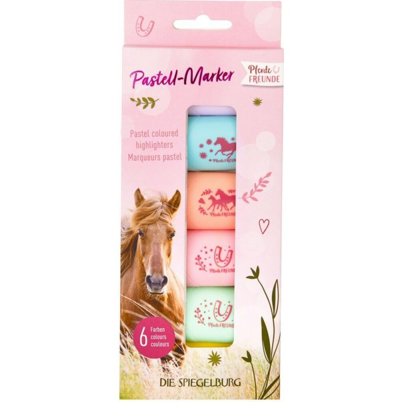 Pastell Marker (6er Set) Pferdefreunde