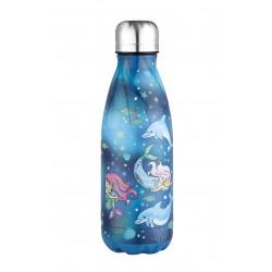 Edelstahl Kinderflasche 0,35l Meerjungfrau