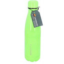 Neonfarbige Schulflasche Edelstahl 0,5l grün