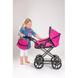 AM Puppenwagen pink/grau melliert