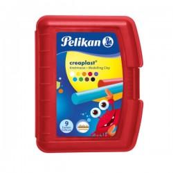 Knetmasse Creaplast Kinderknete 198 9R rot, 9 Farben, 300g