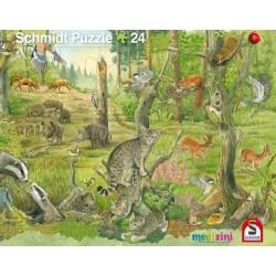 2er Set Rahmenpuzzles Tiere im Wald 24 Teile Tiere auf der Wiese 40 Teile