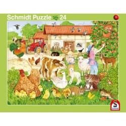 2er Set Rahmenpuzzles Wir gehen in den Zoo! 16 Teile Ferien auf dem Bauernhof 24