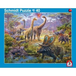 2er Set Rahmenpuzzles  Giganten der Urzeit 24 Teile Dinosaurierwelt 40 Teile