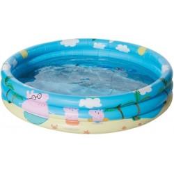 Happy People 16260 Peppa Pig 3 Ring Pool, aufgeblasen ca. 100x23 cm,
