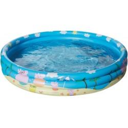 Happy People 16261 Peppa Pig 3 Ring Pool, aufgeblasen ca. 122x23 cm,