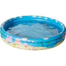 Happy People 16262 Peppa Pig 3 Ring Pool, aufgeblasen ca. 150x25 cm,